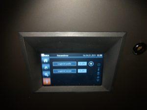 écran tactile Rika poêle pellet